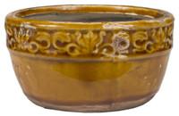 Swan Creek Vintage Round Brown Bowl-Pumpkin Vanilla