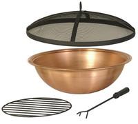 "22"" Copper Fire Pit Bowl & Accessories Kit"