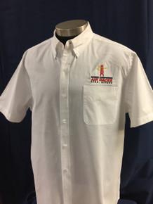 Men's short sleeve twill shirt white