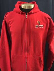 Men's full zip hoodie jacket red