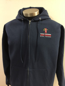Men's full zip hoodie jacket navy blue
