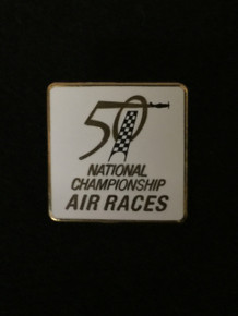 2013 50th Anniversary White Square Pin