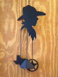 Cowboy Silhouette Windchime