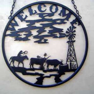 Cattle Windmill Welcome