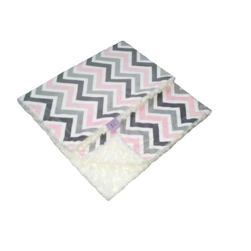 Trendy Pink Chevron Blanket