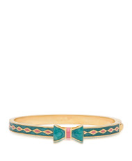 Lily Nily Bow Bangle - Green & Pink