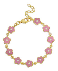 Lily Nily Flower Link Bracelet - Pink