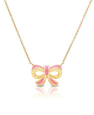Lily Nily Bow Necklace - Pink