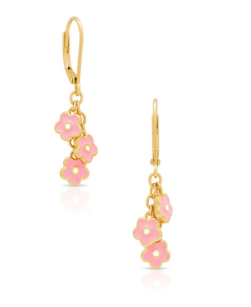 Lily Nily Flower Charms Leverback Earrings