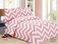 French Pink Waves Linen Set