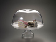 "Acrylic 11.5"" Cake Stand w/ Dome (Set)"