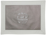 Majestic Collection Vinyl Challah Cover - Textured Taupe & Cream (GMG-CC230)