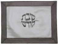 Majestic Collection Vinyl Challah Cover - White/ Grey (GMG-CC205)