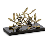 Michael Aram Olive Branch Gold Vertical Napkin Holder