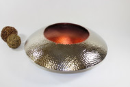 Pampa Bay Hammered Copper Wide Medium Round Bowl (B-35402-C-VM)