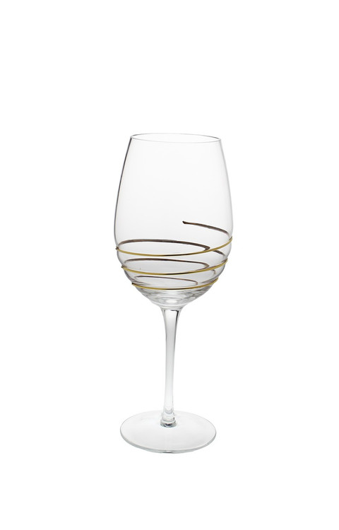 Swirl Gold Water Glasses (Set of 6) (CSWG389)