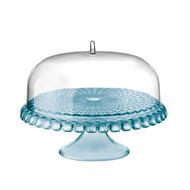 Guzzini Tiffany Cake Stand w/ Dome - Blue
