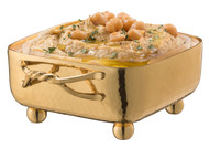 Gold Square Dip Container Holder w/ Entangled Handles