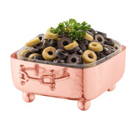 Copper Square Dip Container Holder w/ Buckle Handles