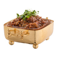 Gold Square Dip Container Holder w/ Buckle Handles