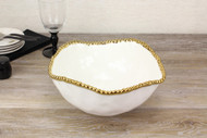 Pampa Bay Golden Solerno Large Salad Bowl (CER-1721-WG)