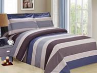 French Blue Stripe Linen Set