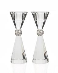Godinger Palazzo Crystal Candlestick Set