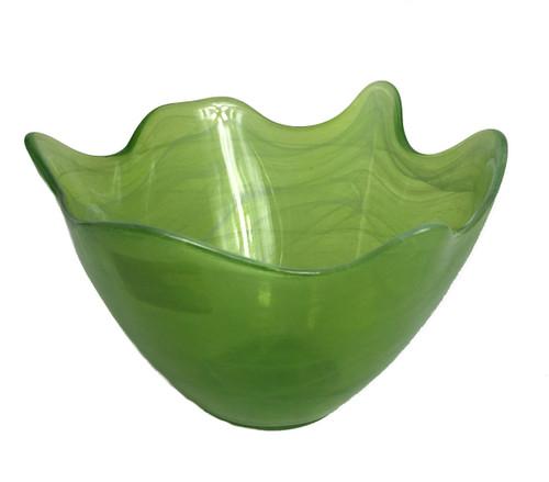 Opaque Hilo Lime Glass Bowl