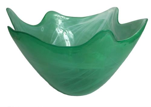 Opaque Hilo Jade Glass Bowl