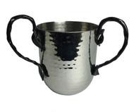 Hammered Leaf Black Washing Cup