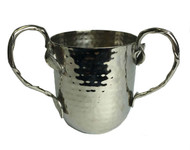 Hammered Leaf Silver Washing Cup