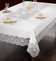 European Victorian Lace Tablecloth