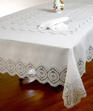 European Vintage Lace Tablecloth