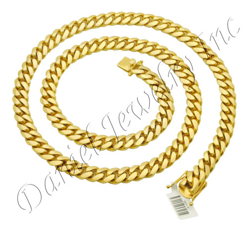 amazon link necklace jewelry smooth resistant fashion com curb usa cuban chain gold dp tarnish chains patented