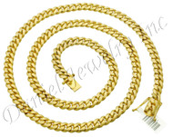 8mm Miami Cuban Link 14k Chain