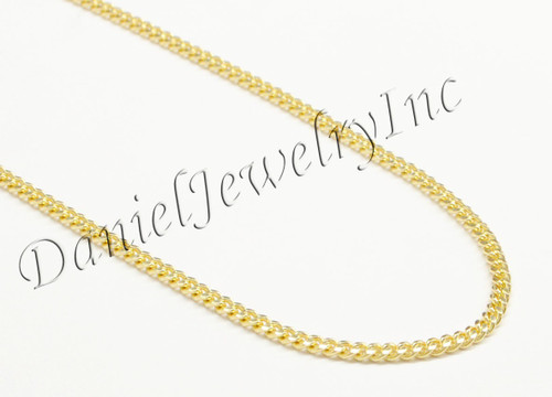 chains solid mens curb link heavy necklace yellow dp amazon gold chain cuban inch com