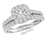 New Bridal Ladies 1.38ct Diamond Wedding Ring White Gold 14k