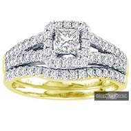 New Bridal Ladies 1.00ct Diamond Wedding Ring Yellow Gold 14k