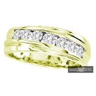 New Bridal Mens 1.00ct Diamond Wedding Ring Yellow Gold 14k
