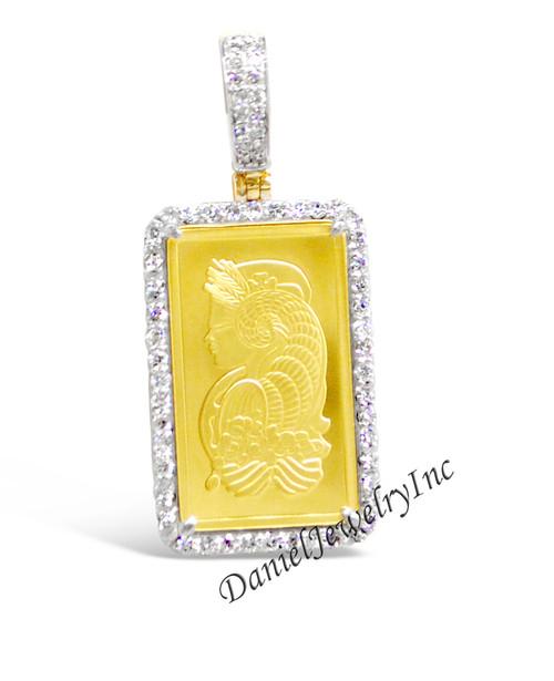 New pamp suisse 24k 25g bar pendant yellow gold 1 12 white image 1 aloadofball Gallery