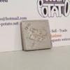 Pokemon Caterpie Square Coin Silver Metal Figure Bandai