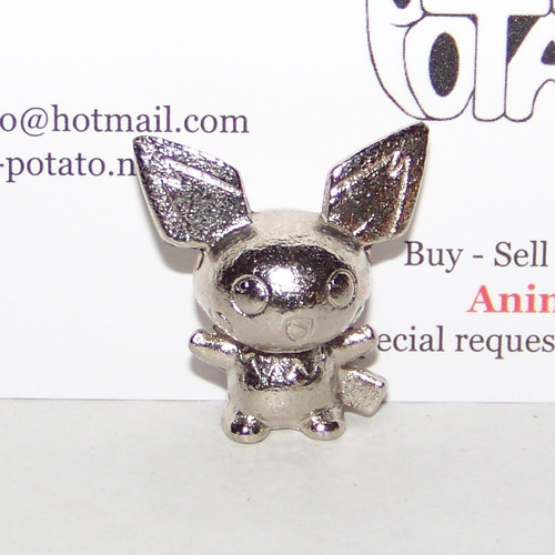 Pokemon Pichu Silver Metal Figure Bandai