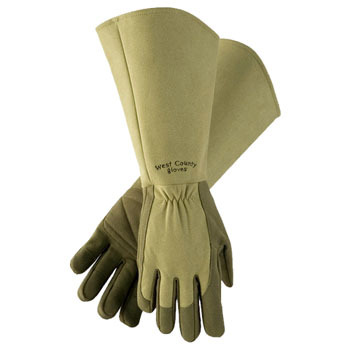 West County Gauntlet Gloves - Green
