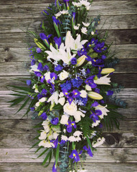 Beautiful Blues Casket Spray