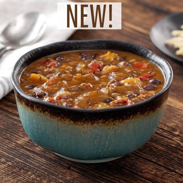 Quinoa & Sweet Potato Chili With Black Beans