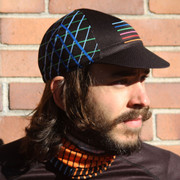 Crosshatch Cycling Cap