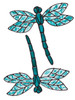 Dragonfly Window Clings - Turquoise