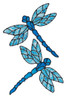 Dragonfly Window Clings - Blue