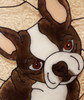 Faux Stained Glass Boston Terrier Suncatcher