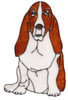 Basset Hound Window Cling